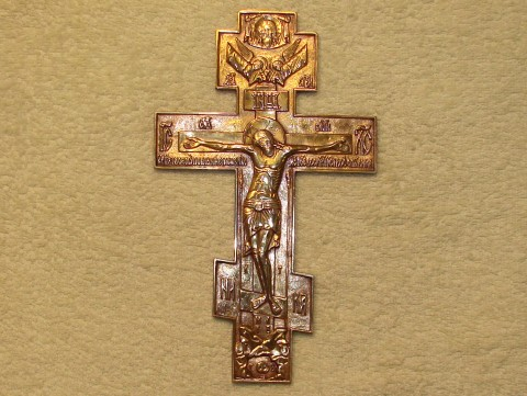 Крест (гальванопластика) 108х181 мм. Арт.: ИМ-108-03